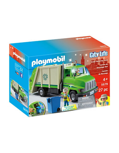 Playmobil Green Recycling Truck Set-MULTI-One Size