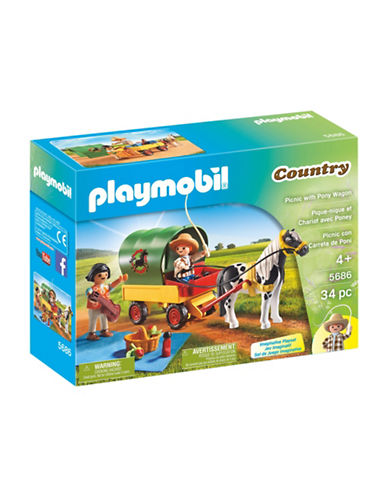 Playmobil Picnic with Pony Wagon Set-MULTI-One Size