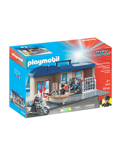 Playmobil Take Along Police Station Set-MULTI-One Size