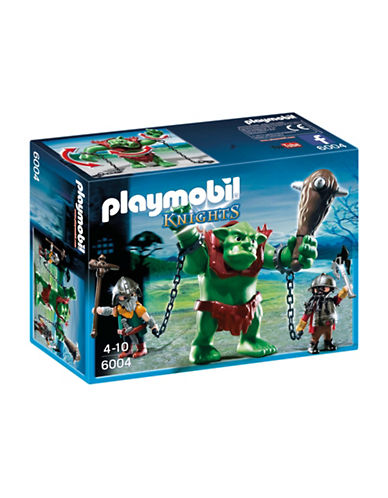Playmobil Giant Troll with Dwarf Fighters Set-MULTI-One Size