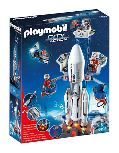 Playmobil Space Rocket with Launch Site Set-MULTI-One Size