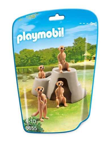 Playmobil Meerkats with Rock-MULTI-One Size