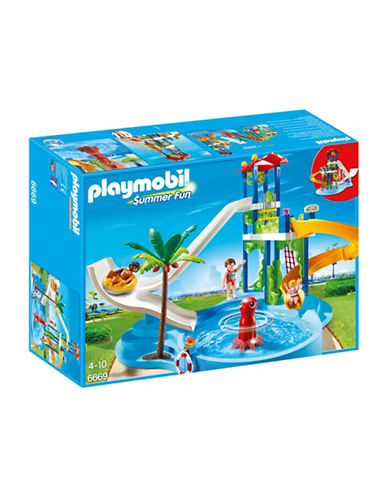 Playmobil Water Park with Slides Play Set-MULTI-One Size