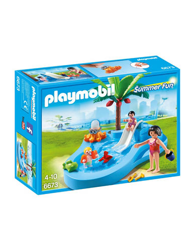 Playmobil Baby Pool with Slide Play Set-MULTI-One Size