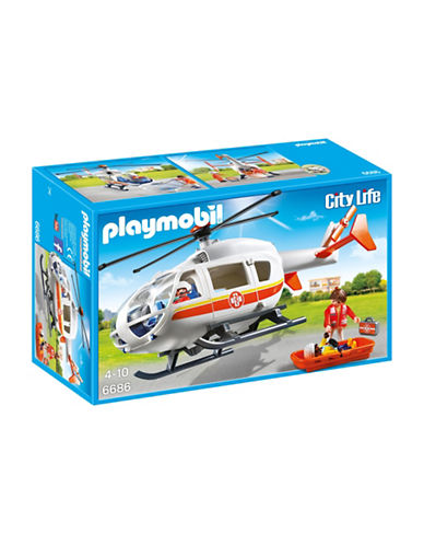 Playmobil Emergency Medical Helicopter Play Set-MULTI-One Size