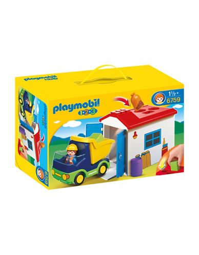 Playmobil 1.2.3 Truck with Garage Play Set-MULTI-One Size