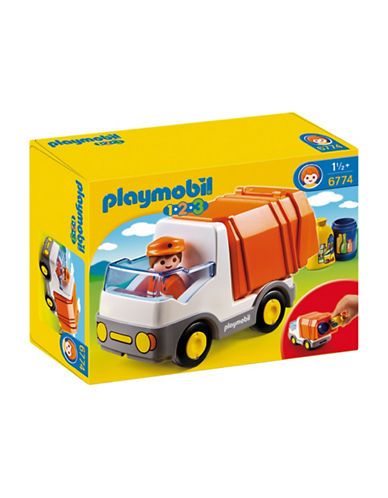 Playmobil 1.2.3 Garbage Truck Play Set-MULTI-One Size