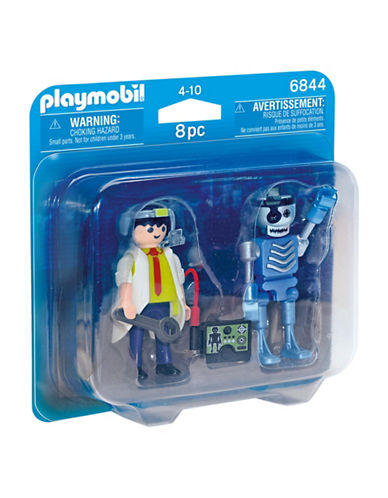 Playmobil Scientist and Robot Duo Pack-MULTI-One Size