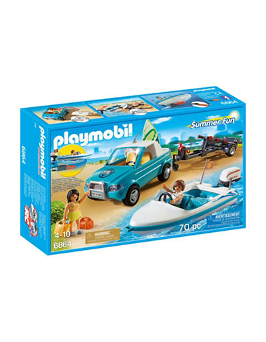 Playmobil Surfer Pickup Van and Speedboat Set-MULTI-One Size