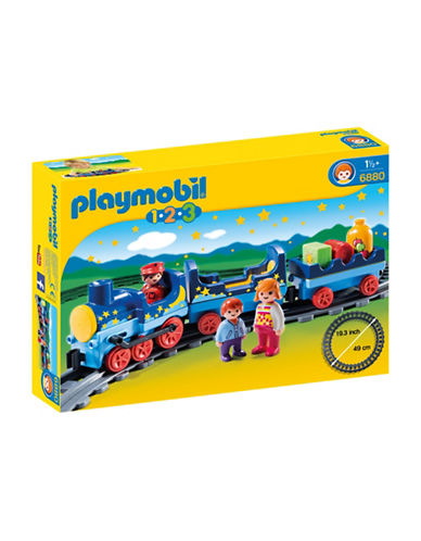 Playmobil Night Train and Track Set-MULTI-One Size