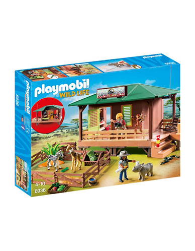 Playmobil Ranger Station With Animal Area Toy Set-MULTI-One Size