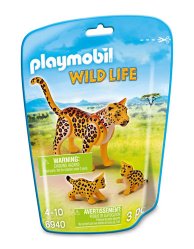 Playmobil Leopard with Cubs Toy Set-MULTI-One Size