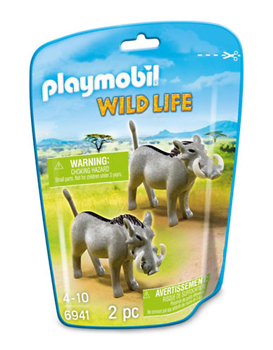 Playmobil Two-Piece Warthog Toy Set-MULTI-One Size