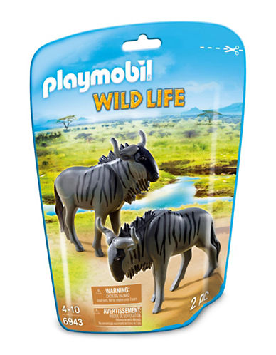 Playmobil Two-Piece Wildebeest Toy Set-MULTI-One Size