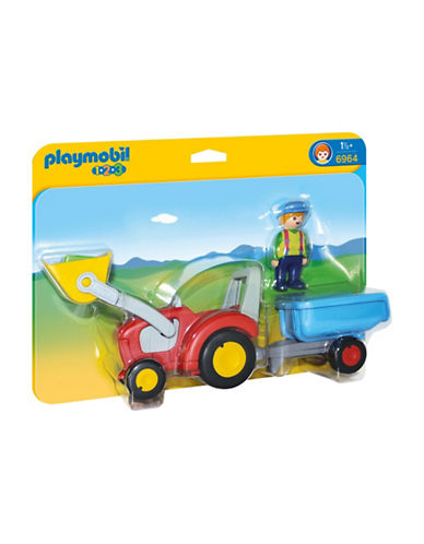 Playmobil Tractor with Trailer-MULTI-One Size