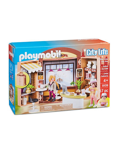 Playmobil City Life Coffee Shop Play Box 9109-MULTI-One Size