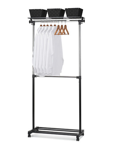Essential Needs Deluxe Adjustable Garment Rack-BLACK-One Size