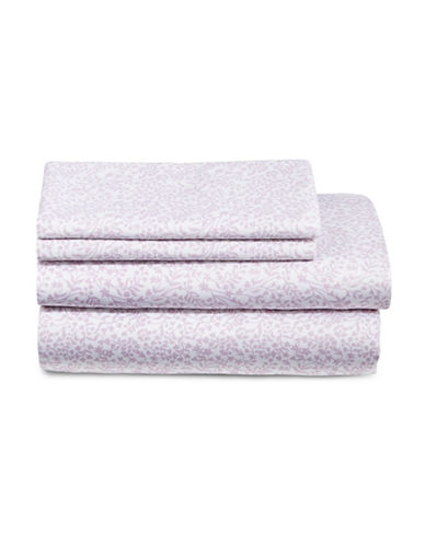 Home Studio Four-Piece Cotton Sheet Set-LAVENDER-Double