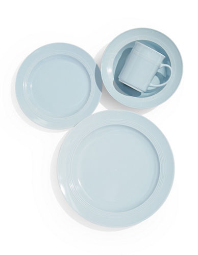 Glucksteinhome Bistro 16-Piece Dinnerware Set-BLUE-One Size