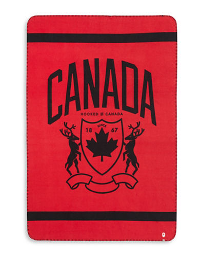Canadian Olympic Team Collection Heritage Canada Fleece Travel Blanket-RED-One Size