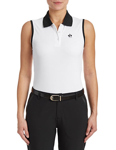 Golf Canada Womens Sleeveless Polo-WHITE-Medium 87913754_WHITE_Medium