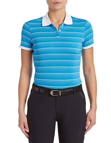 Golf Canada Womens Striped Polo-BLUE-Medium 87913782_BLUE_Medium