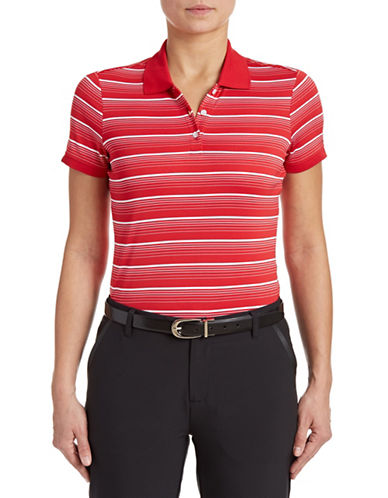 Golf Canada Womens Striped Polo-RED-Medium 87913786_RED_Medium
