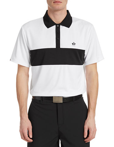 Golf Canada Game Day Contrast Chest Polo-WHITE-Small