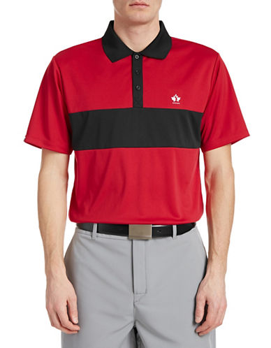 Golf Canada Game Day Contrast Chest Polo-RED-Small