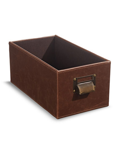 Home Studio 11-Inch Faux Leather CD Box-BROWN-One Size