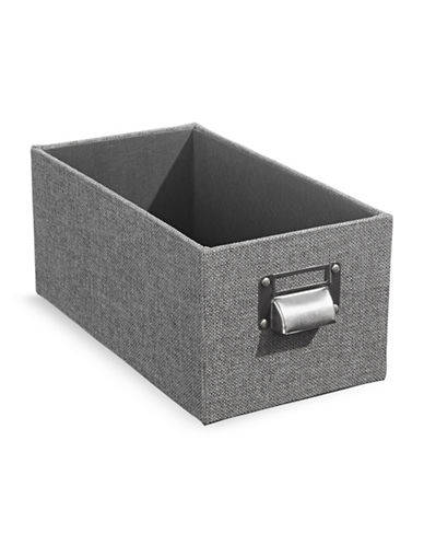 Home Studio 11-Inch Woven CD Box-GREY-One Size