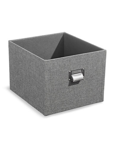 Home Studio Linen Crate-GREY-One Size