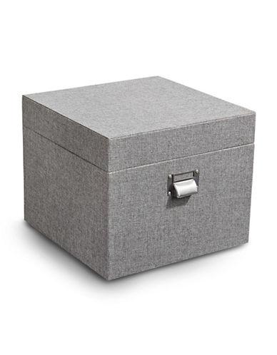 Home Studio Woven Lidded Box-GREY-One Size