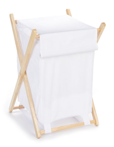 Home Studio Muskoka Clothes Hamper-WHITE-Small