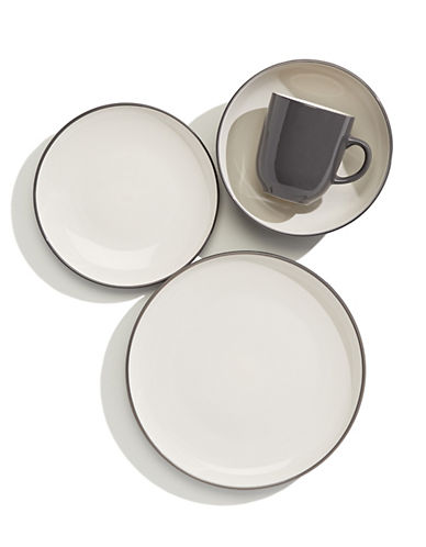 Distinctly Home 16-Piece Orla Dinnerware Set-GREY-One Size