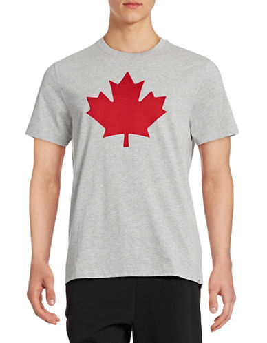Canadian Olympic Team Collection Mens Twill Maple Leaf T-Shirt-GREY-Large 87937814_GREY_Large
