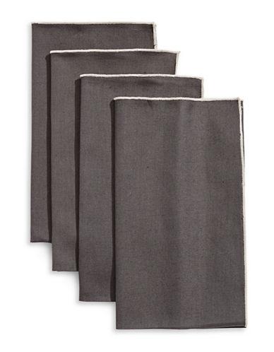 Glucksteinhome Provencal Set of Four Napkins-DARK GREY-One Size