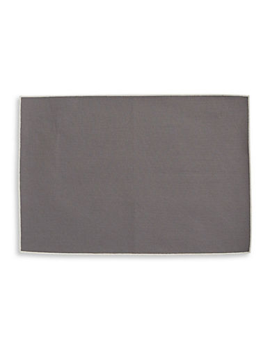 Glucksteinhome Provencal Cotton Placemat-DARK GREY-One Size