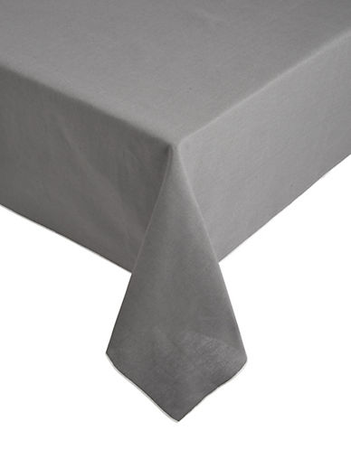 Glucksteinhome Provencal 102-Inch Tablecloth-DARK GREY-One Size