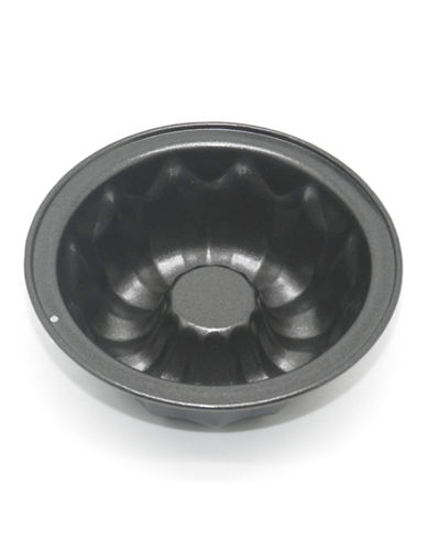 Essential Needs Non-Stick Mini Fluted Cake Pan-SILVER-One Size