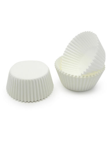 Essential Needs Pack of 75 Medium Baking Cups-WHITE-One Size