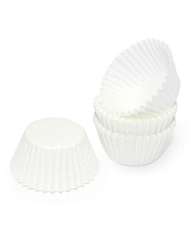 Essential Needs Pack of 100 Small Baking Cups-WHITE-One Size