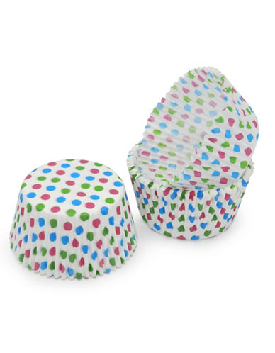Essential Needs Pack of 50 Polka-Dotted Large Baking Cups 87969132