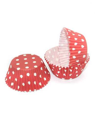 Essential Needs Pack of 50 Polka-Dotted Large Baking Cups 87969141