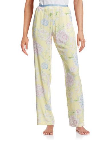 Lord & Taylor Floral Print Pants-BLUE-Large 87977176_BLUE_Large
