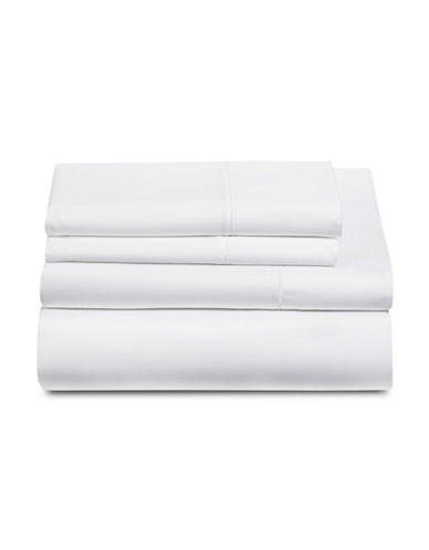 Glucksteinhome Four-Piece 600 Thread Count Wrinkle-Resistant Sheet Set-WHITE-King