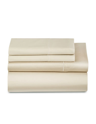 Glucksteinhome Four-Piece 600 Thread Count Wrinkle-Resistant Sheet Set-BEIGE-King