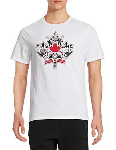 Canadian Paralympic Committee Mens Canadiana Graphic T-Shirt-WHITE-X-Large 88016011_WHITE_X-Large