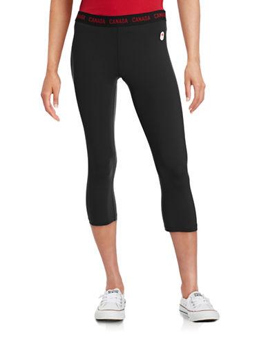 Canadian Olympic Team Collection Womens Village Canada Capri Legging-BLACK-X-Large 88023358_BLACK_X-Large