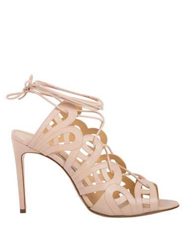 Bionda Castana Hazel Calf Leather Laser-Cut Sandals-BLUSH-EUR 38/US 8